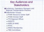 key audiences and stakeholders