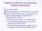 national conference on advancing regional operations