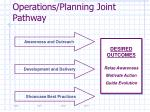 operations planning joint pathway