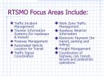 rtsmo focus areas include