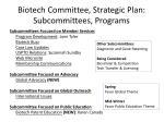biotech committee strategic plan subcommittees programs