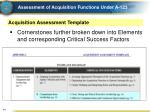 assessment of acquisition functions under a 12310