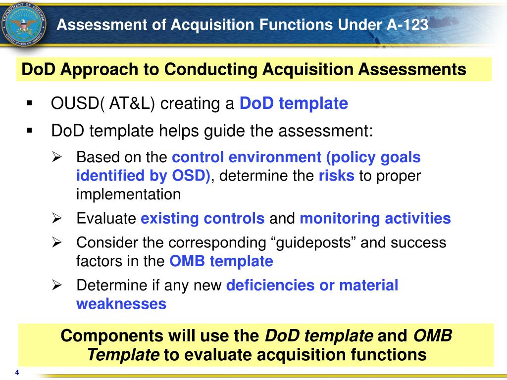 Assessment of Acquisition Functions Under A-123