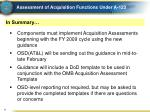 assessment of acquisition functions under a 1236