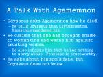 a talk with agamemnon