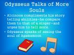 odysseus talks of more souls