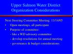 upper salmon water district organization considerations1