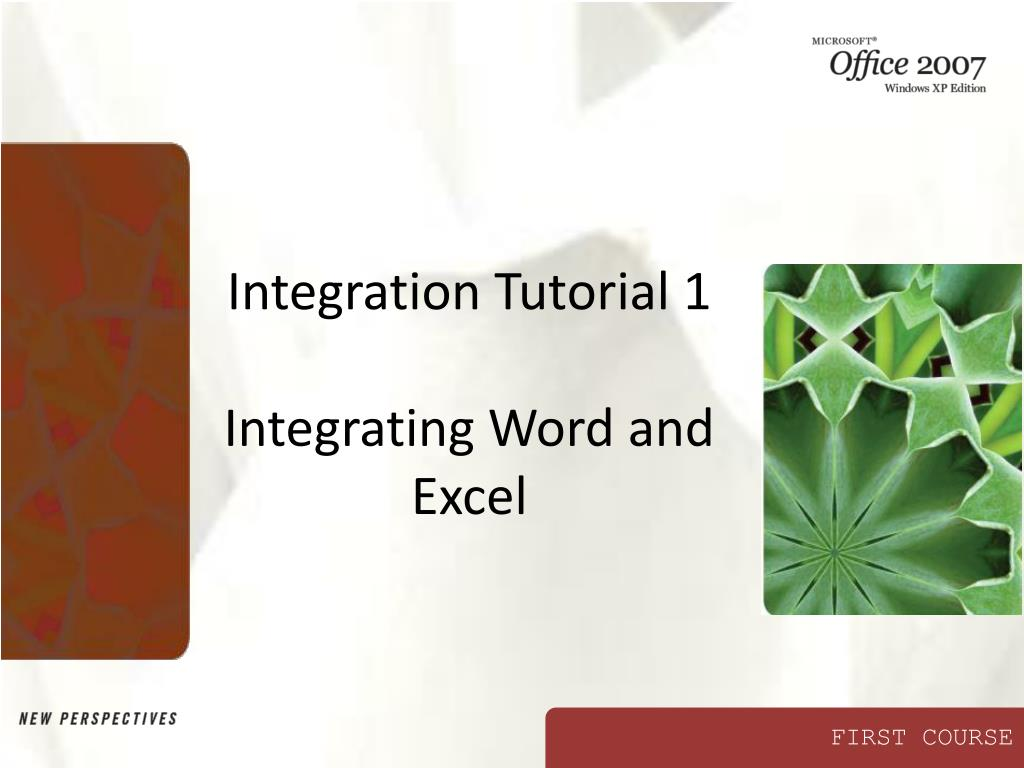 Integration Tutorial 1