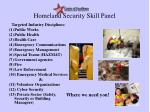 homeland security skill panel2