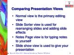 comparing presentation views41