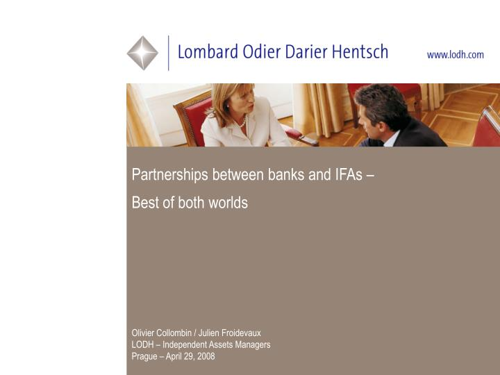 partnerships between banks and ifas best of both worlds n.