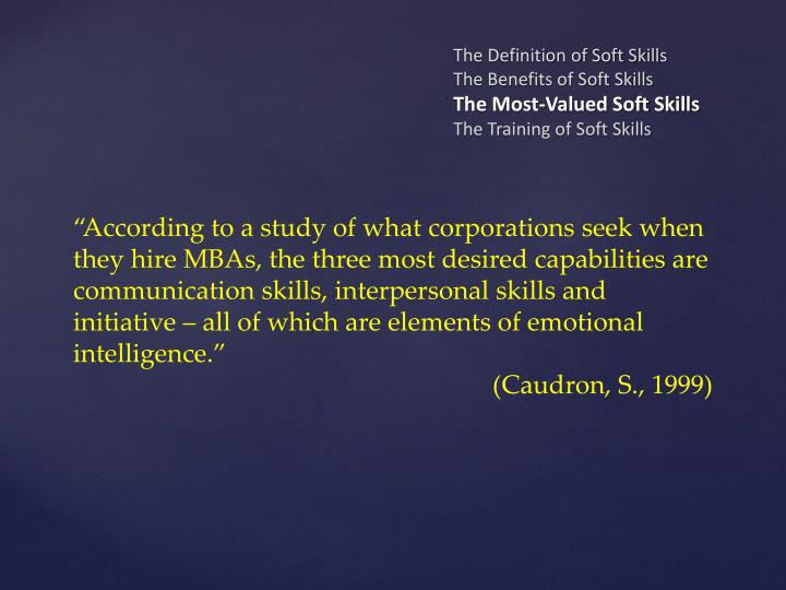 Ppt The Hard Truth About Soft Skills Powerpoint Presentation Id
