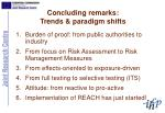 concluding remarks trends paradigm shifts