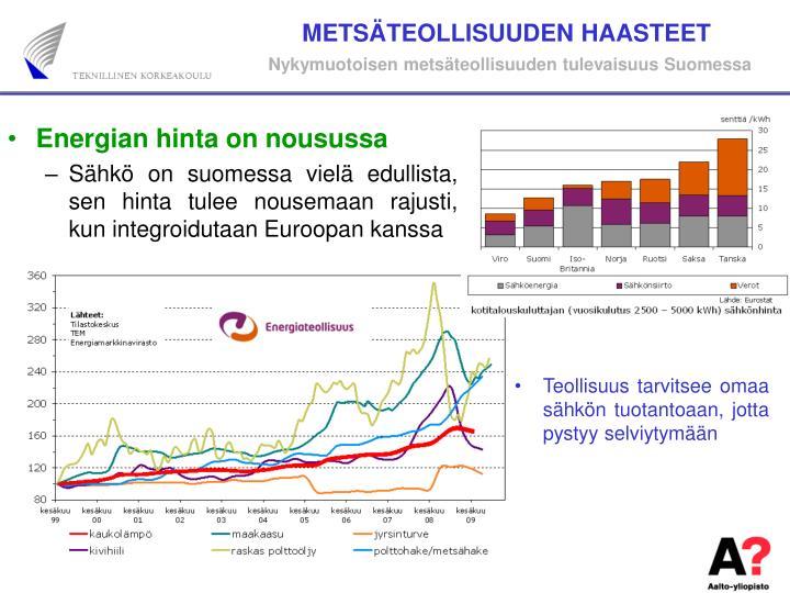 METSÄTEOLLISUUDEN HAASTEET