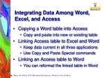 integrating data among word excel and access5