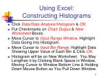 using excel constructing histograms