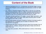 content of the book