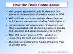 how the book came about