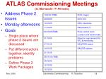 atlas commissioning meetings g mornacchi p perrodo