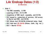 lar endcap dates 1 2 e monnier