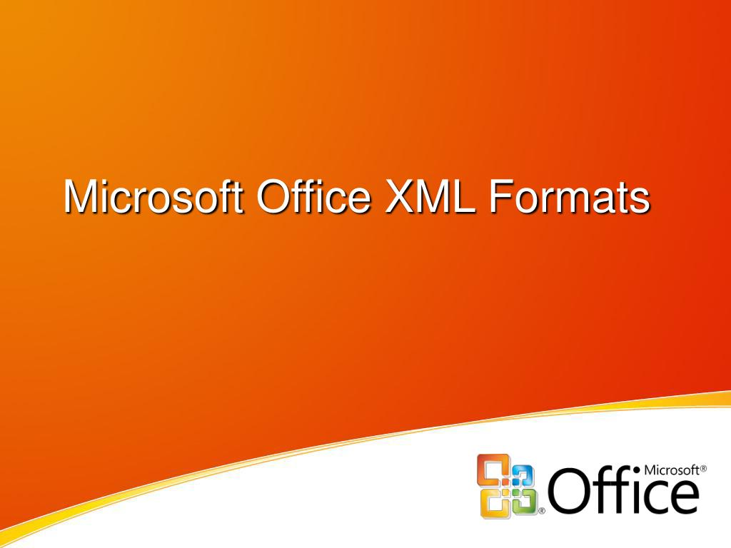 microsoft office xml formats l.