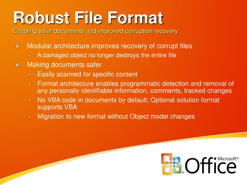 Robust File Format