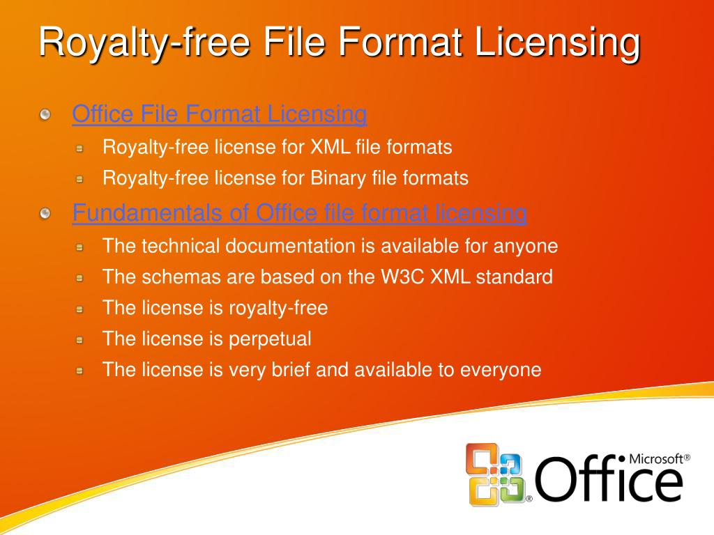 Royalty-free File Format Licensing