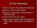 on the mississippi