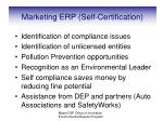 marketing erp self certification