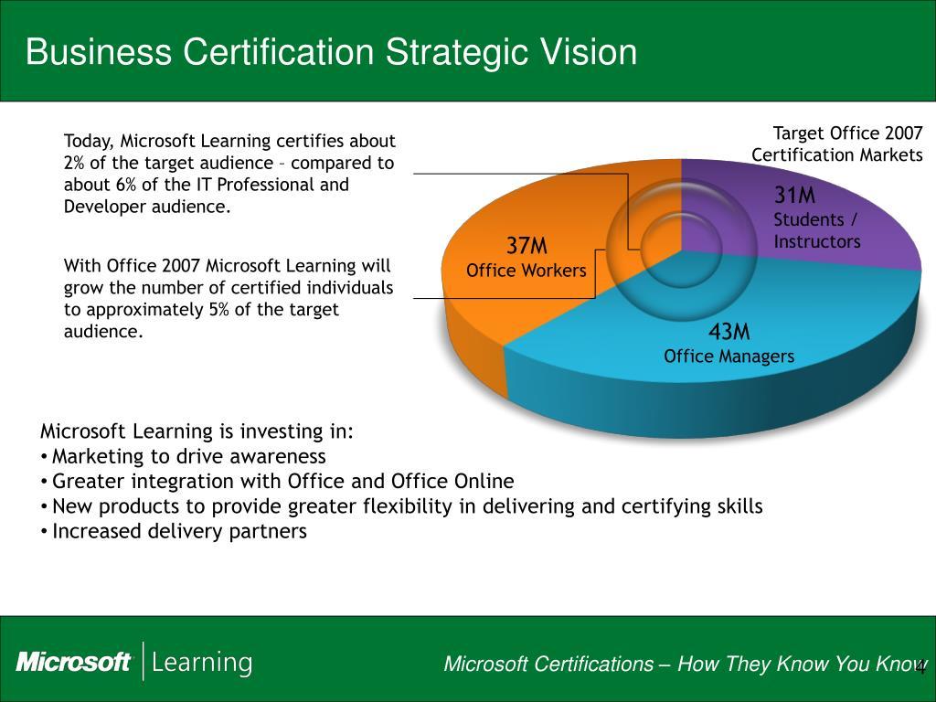 Business Certification Strategic Vision