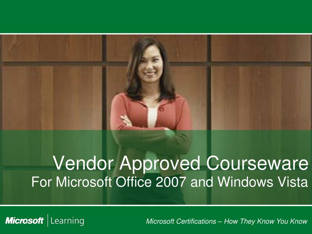 Vendor Approved Courseware
