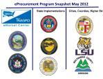 eprocurement program snapshot may 2012