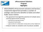 eprocurement solutions program highlights