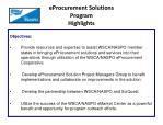 eprocurement solutions program highlights1