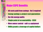 major espc benefits