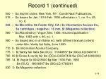 record 1 continued1