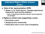 individual rights within unions cont