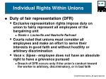 individual rights within unions