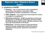 national labor relations board cont