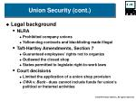 union security cont