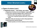 union structure cont