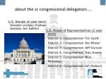 about the sc congressional delegation