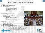 about the sc general assembly