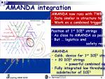 amanda integration