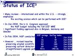status of ice 3