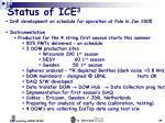 status of ice 31