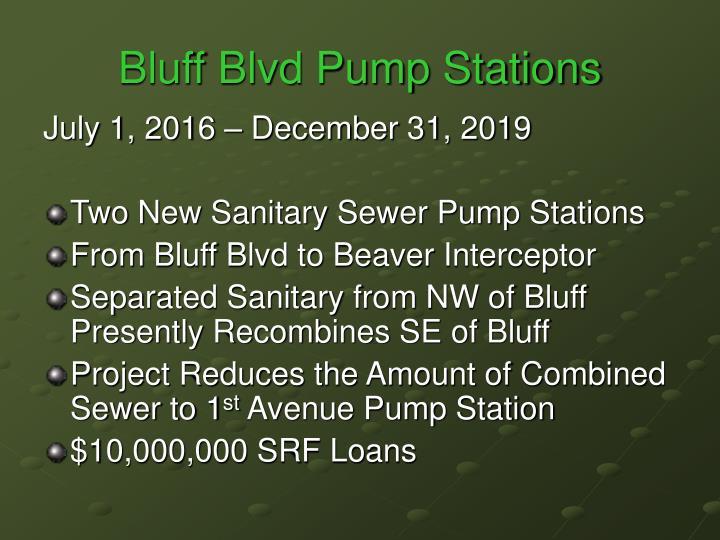 Bluff Blvd Pump Stations