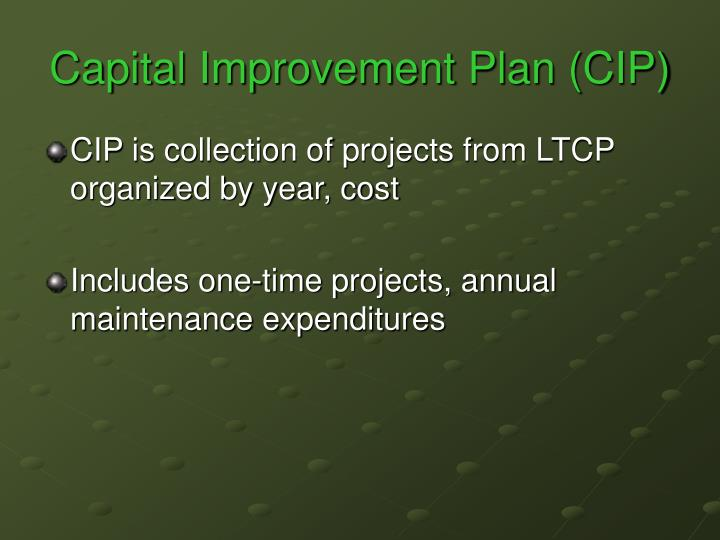 Capital improvement plan cip