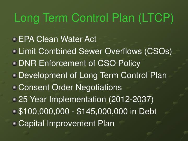 Long term control plan ltcp