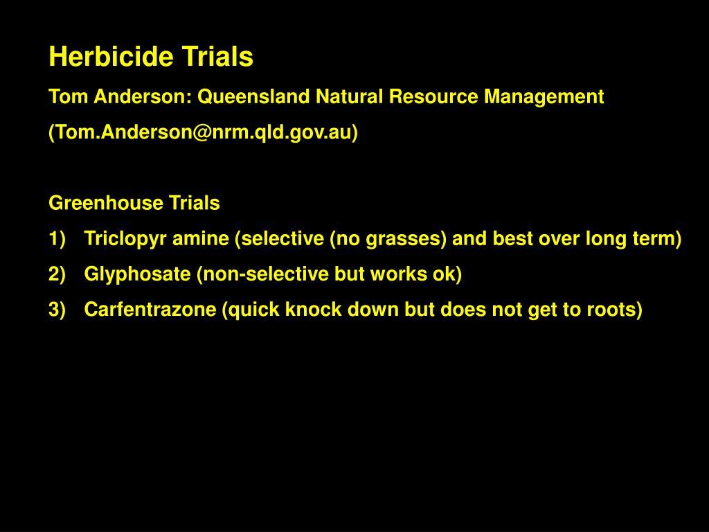 Herbicide Trials